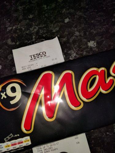9 pack Mars Bar - 69p instore @ Tesco