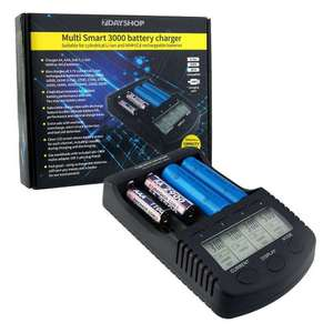 7dayshop Pro Series Intelligent LCD AA AAA NiMH and 18650 Li-Ion Battery Charger - MultiSmart 3000 £19.94 7dayshop inc delivery