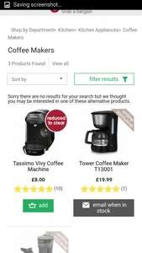 WILKO - TASSIMO MACHINE £8 (Free Click/Collect )