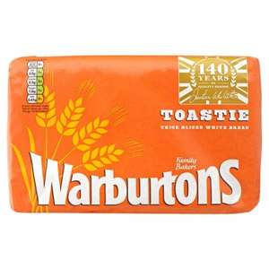 Warburtons toastie thick sliced 800g for 50p at Asda instore