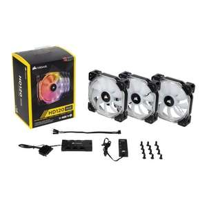 Corsair HD120 RGB 120mm LED 3 Fan Kit with Lighting Controller £56.99 @ Scan