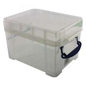 Really Useful 245 x 180 x 160mm 3L Box with Lid - Clear £3 addon @ Amazon