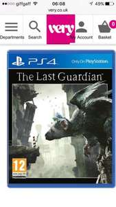 The Last guardian £25.99 @ very with free c&c