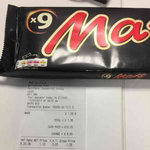 Mars Bar x 9 pack £1.35 instore at Spar