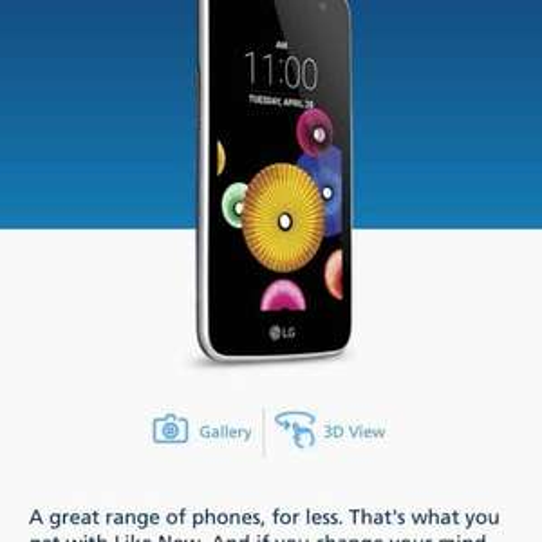 LG k4 smartphone - Like New - £19.99 @ O2