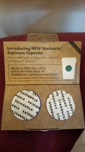Free Starbucks Nespresso and Latte