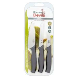 'Kitchen Devils Control 3 piece knife set half price for £5 (from £10)- Both in store and online @ Morrisons