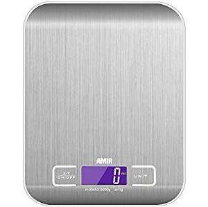 Amir Digital Food Scale £8.99  (Prime) / £12.98 (non Prime) Sold by Amir UK and Fulfilled by Amazon