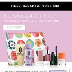 Clinique free 7 piece gift with £45 spend
