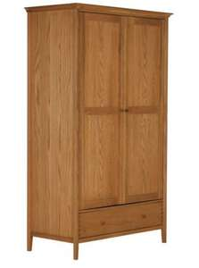OAK Schreiber Pentridge 1 Drawer 2 Door Wardrobe -WAS £819 now £122.50 with code Argos