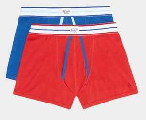 Original Penguin 2 Pack Red and Blue A-fronts Hipsters - was £20 NOW £6 @ Burton