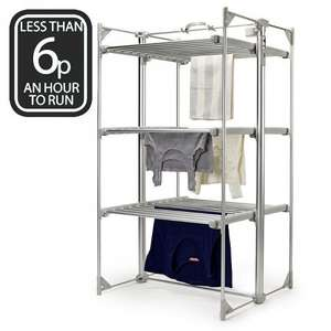 Refurbished Lakeland Dry-Soon Deluxe Electric 3 Tier Heated Indoor Clothes Airer £54.99 ebay /  lakeland