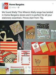 Where's Wally Stationery from 79p in Home Bargains
