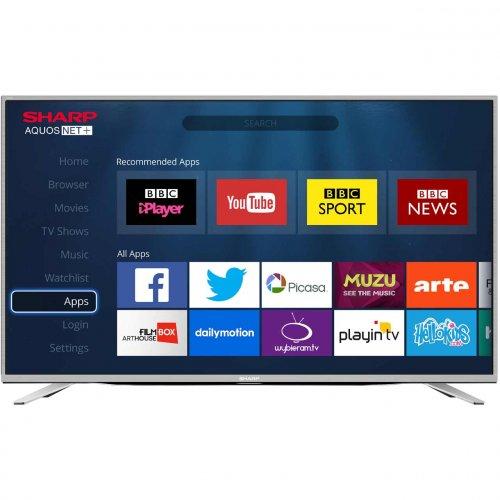 "Sharp TV LC-49CUG8462KS 49"" Smart 4K Ultra HD TV - Silver - £324 @ AO.com"