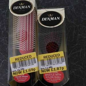 Denman hairbrushes reduced to clear in Tesco Nottingham £1.87/£1.69