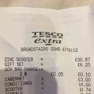 zinc electric scooter scanning for £30.87 instore @ Tesco Direct