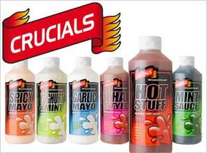 Crucials Chilli Sauces - 2x0.5l bottles for £1.50 @ Morrisons (mix n match)