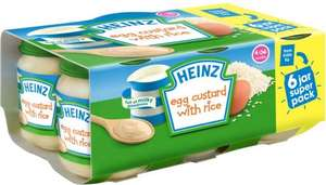 Heinz Egg Custard with Rice 4mth+ (6 x 120g) was £2.75 now £1.00 (Rollback Deal) @ Asda