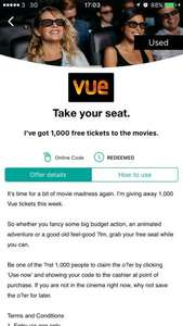 Free movie ticket with Wuntu App (Meant for Three Mobile Users)