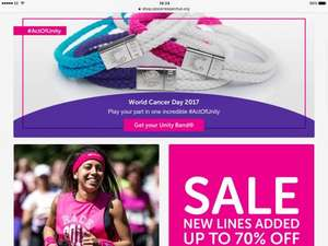 70% off at Cancer Research UK's online shop!