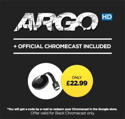 Google Chromecast and 'Argo HD' movie - £22.99 [Now £21.99] @ Wuaki
