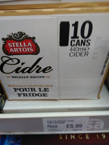 Stella Artois Cidre (10 x 440ml) £5.99 @ Nisa (Apple)