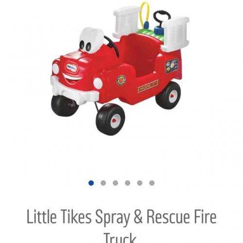 little tikes spray & rescue fire truck £39.99 argos