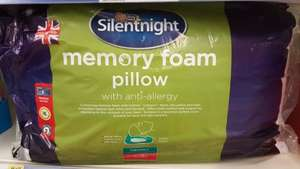 Silentnight Dupont Memory Foam Anti-Allergy Pillow Half Price £10 instore @ Tesco