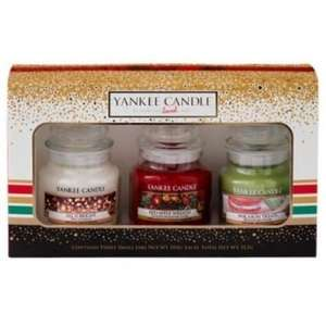 Yankee Candle Christmas 2016 3 Small Jars Boxed Gift Set £11.44 delivered using code NY2017 @ Internet Gift Store