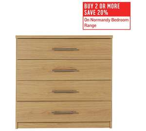 Argos Normandy furniture discounts stackable; 20% off, buy 2 further 20% plus 15% with code