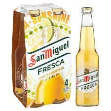 san miguel fresca 4x330ml bottles for £2.99 instore home bargains
