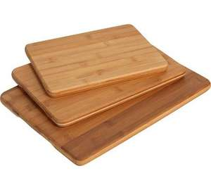 Collection set of 3 bamboo chopping board @ half price £7.49 @ Argos