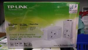 Tesco InStore TP-LINK AV500 TL-PA4020 500Mbps 2-Port Powerline Adaptor Starter Kit (Twin Pack) for £12