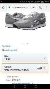 Men's Reebok Classic Nylon Grey (Platinum/Jet Blue) UK10 £23.62 Delivered @ Amazon