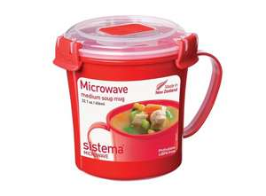 Sistema Microwave Soup Mug - 656 ml, Red/Clear £2.40 Add-on item Amazon