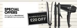 GHD £20 off from official GHD website