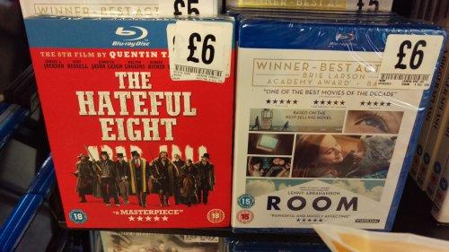 The Hateful Eight/Room Blu Ray £6 each @ Fopp