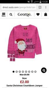 Countdown to Christmas, toddlers jumper £2 from Asda