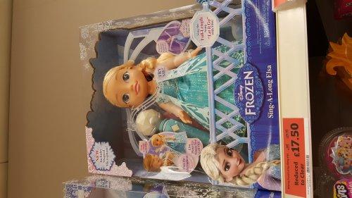 Disney frozen sing along Elsa instore at Sainsbury's (Stevenage) for £17.50