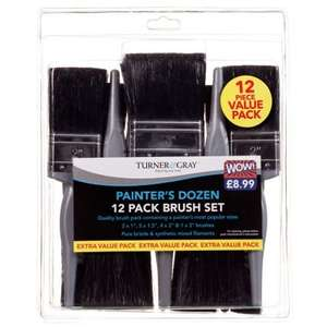 Turner & Gray 12 piece Paintbrush set B&M Retail £4.99 instore