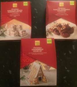 Marks and spencer (instore) - Christmas Rudolf Cookie Mix/ Gingerbread House Mix/ Chocolate Orange Marshmallow Mix £0.25 each