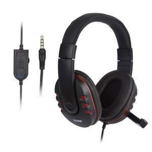 LESHP 3.5mm Wired Over-head Stereo Gaming Headset Headphone with Mic Microphone £8.99 (Prime) + Delivery Sold by iUcar-UK and Fulfilled by Amazon.