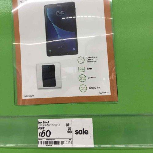 Samsung Galaxy Tab A £60 instore @ Asda Bury St Edmunds