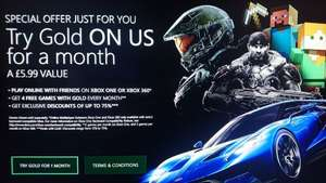 Xbox Live Gold - Free 1 Month Trial
