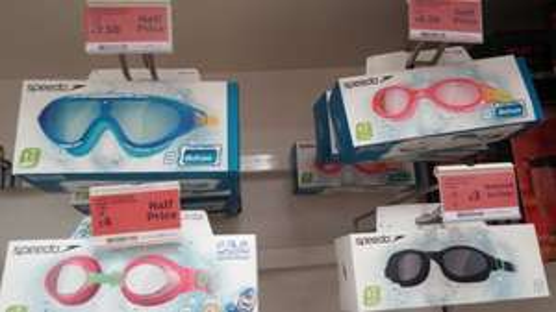 speedo goggles half price and less £3 @ Sainsbury's