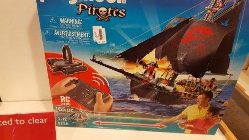 playmobil remote control pirate ship reduced to £20 instore John Lewis Edinburgh