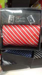 Tie and Cufflinks Set in a nice Gift Box - £1 @ Poundworld
