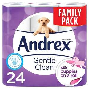 Andrex Gentle Clean 24 rolls toilet paper £8 @ Poundworld