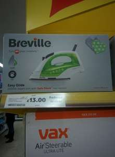Breville VIN370 2200W Iron (RRP £35) - £13 instore @ Tesco