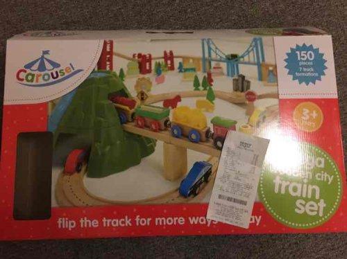 150 pieces wooden train set (large set) Tesco  instore - £12.50